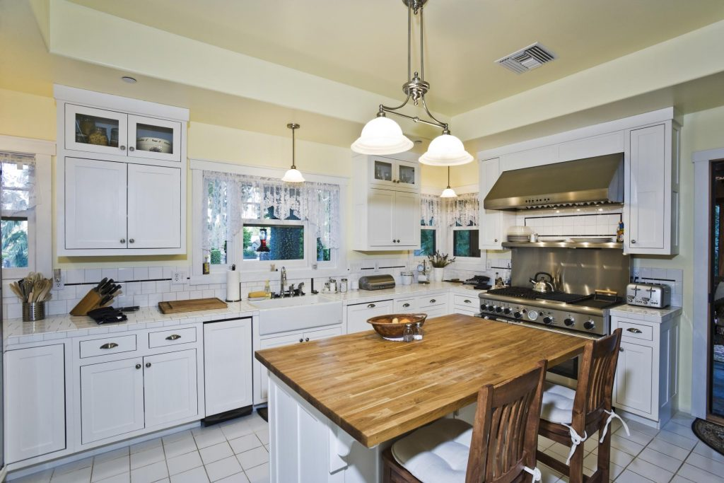 kitchen with white paint